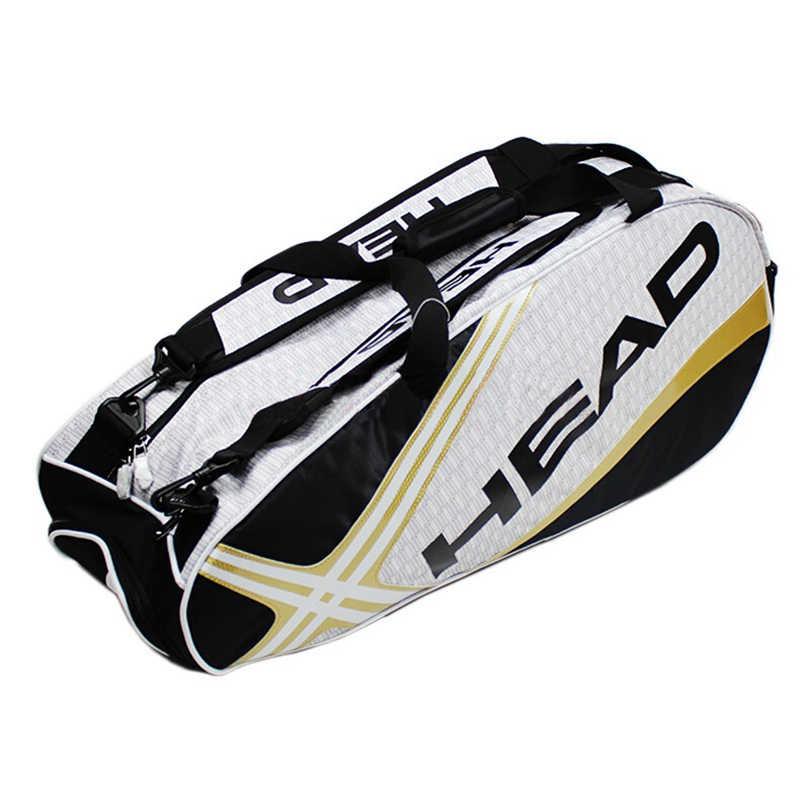 Профессиональная сумка для тенниса большой емкости макс для 6 теннисных ракетов мужской спортивный рюкзак или одно плечо Djokovic того же типа