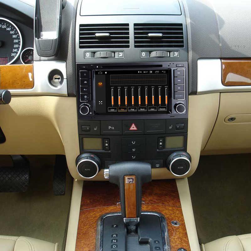 2 Din アンドロイド 9.0 車のマルチメディアプレーヤー VW/フォルクスワーゲン/トゥアレグ/トランスポーター T5 2004-2011 AutoRadio DVD Automotivo GPS 2 グラム RAM