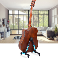 New Arrival Guitar Stand Universal Folding A Frame Guitar Ground Stand For Acoustic Electric Guitars Accessories