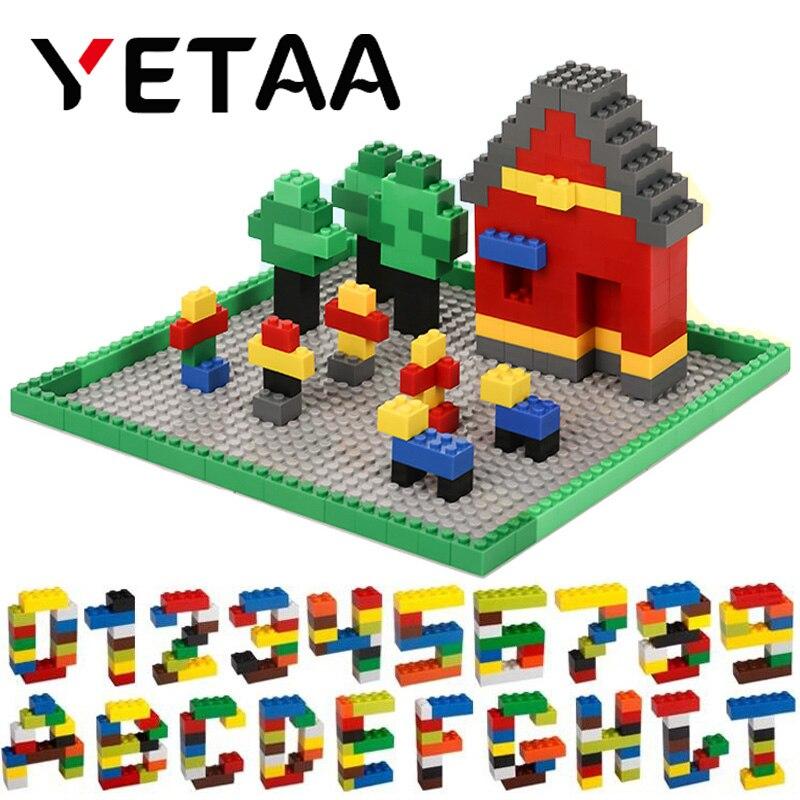 YETAA Bulk Multiple Colors Assorted Mixed Building Bricks Legoed DIY Particles Building Blocks Construction Toys for Children