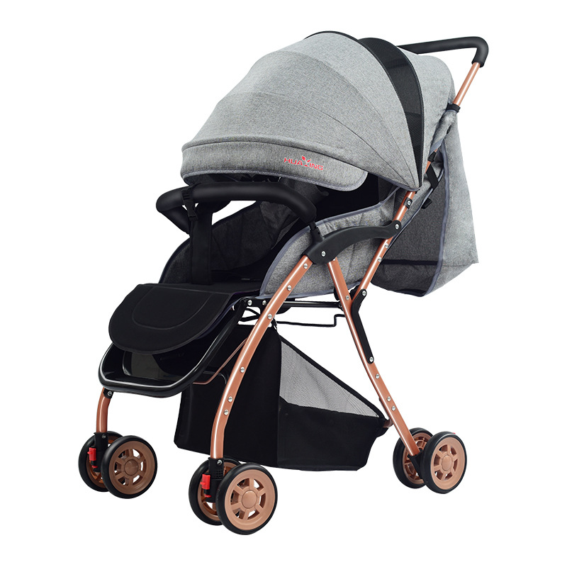 Lightweight Stroller Seated Reclining Safe And Comfortable Easy To Fold Winter Summer Dual Purpose