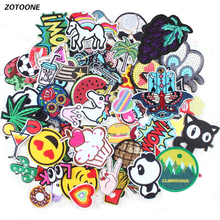 Random Mixed Unicorn Letter Food Patch Emoji Fruit Iron On Cartoon Patches Cheap Embroidered Cute For Kids Clothes