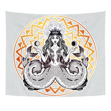 Short Plush Tapestry with Mandala