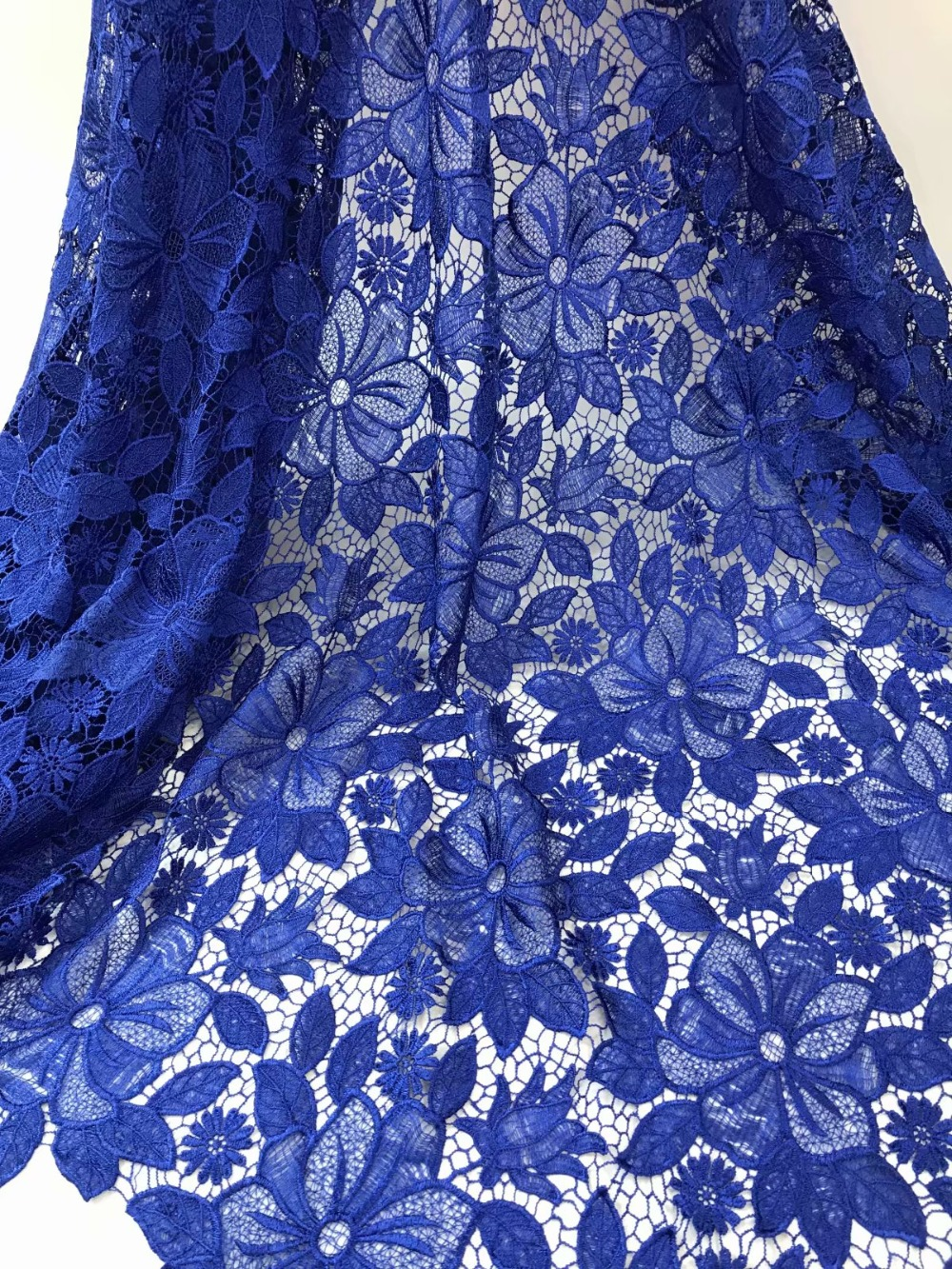 pure colour guipure lace fabric 5yards african water soluble lace fabric good quality lace fabric free shipping rfno211