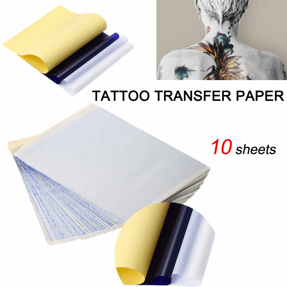 10x Tattoo Transfer Paper Stencil Carbon Thermal Tracing Hectograph Sheet Tattoo Accessories A4 Size Body Art Aliexpress
