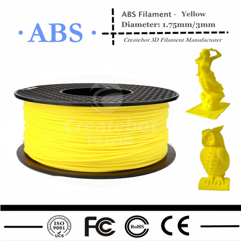 все цены на  3D Printer Filament ABS Filament 1.75mm 1KG Plastic Consumables Material 13Colors for option with Free shipping  онлайн