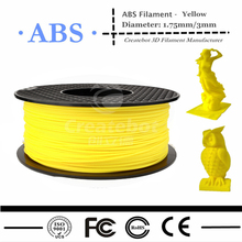 3D Printer Filament ABS Filament 1.75mm 1KG Plastic Consumables Material 13Colors for option with Free shipping