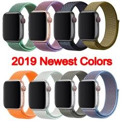38mm 42mm 40mm 44 milímetros band para apple watch série 1 2 3 tecido nylon strap band para iWatch 4 padrão colorido fivela clássico