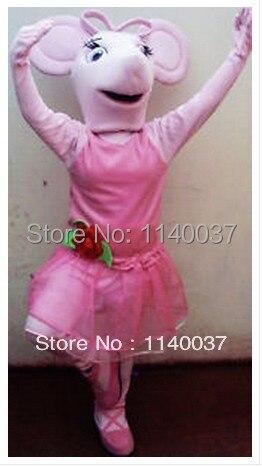 Маскоты розовый мышь Маскоты костюм для взрослых Размеры персонажа из мультфильма Маскоты te костюм нарядное платье EMS Бесплатная
