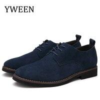 YWEEN New Men's Casual Shoes Faux Suede Leather Men Oxfords Spring Autumn Fashion Shoes Men Size eur38 48