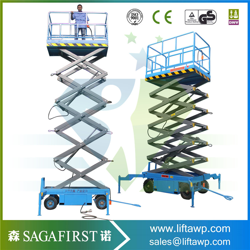 14m Hydraulic Scissor Working Platform Lift With CE