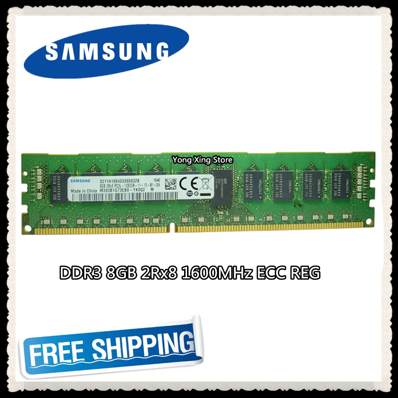 <font><b>Samsung</b></font> <font><b>DDR3</b></font> 8GB server memory 1600MHz 2Rx8 <font><b>ECC</b></font> <font><b>REG</b></font> <font><b>DDR3</b></font> PC3L-12800R Register DIMM RAM 10600 4G image