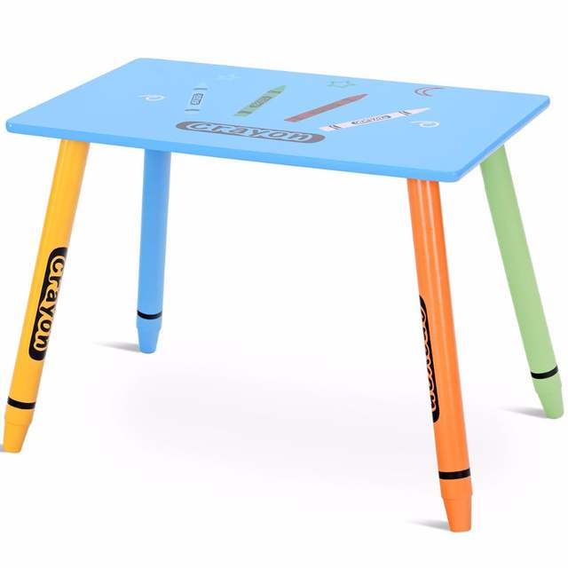 Admirable Us 45 99 Giantex 3 Piece Crayon Kids Table Chairs Set Wood Children Activity Playroom Furniture Hw58673 On Aliexpress Ocoug Best Dining Table And Chair Ideas Images Ocougorg