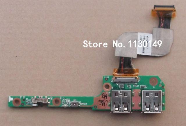 Frete grátis interruptor board para hp pavilion dm3 series interruptor de energia sem fio e porta usb para hpmh-40gab430s-e000