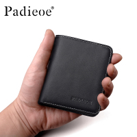 Padieoe Fashion Brand Men Wallets Genuine Leather Slim Business Small Male Pocket Purse
