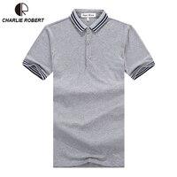 2017 New Brand Summer Men Business Casual Cotton POLO Shirt Classic Stripes British Gentleman POLO Shirt