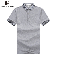 2017 New Brand Summer Men Business Casual Cotton POLO Shirt Classic Stripes British Gentleman POLO Shirt