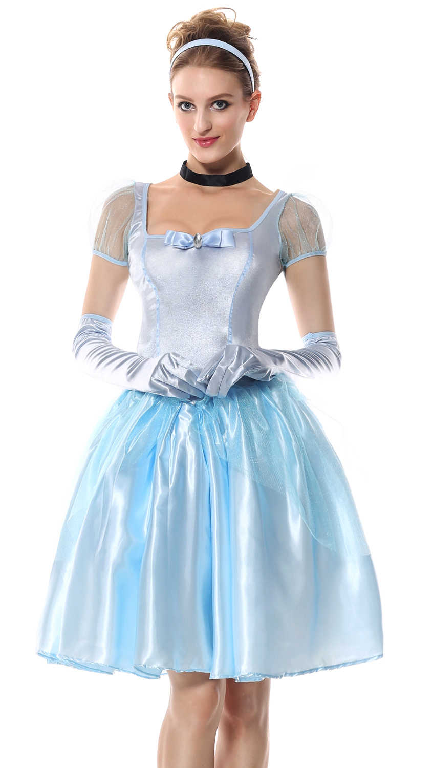 994add18a6a4 Fairy Tale Cinderella Costume Adult Princess Cinderella Dress Halloween  Costumes for Women Fantasy cosplay Costume