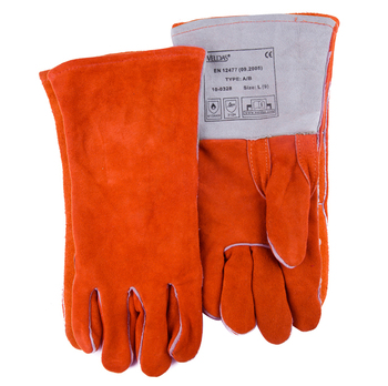 цена на Welding Gloves Gas Welder Gloves Cowhide High Temperature Heat Resistant ARC TIG MIG Leather Work Gloves