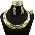fashion jewelry sets real gold plated color best quality jewelry sets african women necklace  new design for wedding jewelry