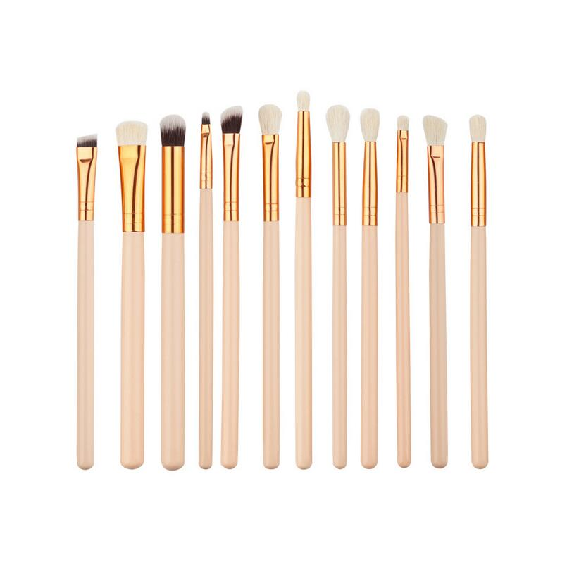 12 Pcs/set Golden  Makeup Brushes Set Make up Cosmetics Brush  Eyeliner Eye shadow Eyebrow Lip Brush Cosmetic Tools pro 20pcs set make up styling tools cosmetic eyeliner eyebrow lipsticks shadow wood pincel makeup blushes kit cosmetics pinceaux