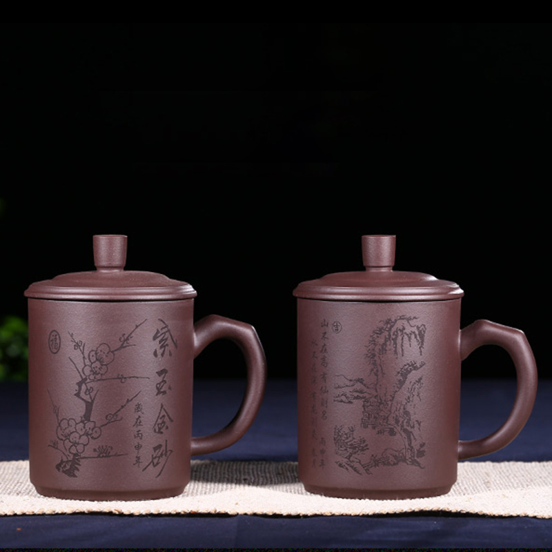 500ml Authentic Yixing Tea Cup Mug Chinese Health Purple Clay Master Cup Handmade Office Coffee Mugs Milk Cups Teacup Gift Box