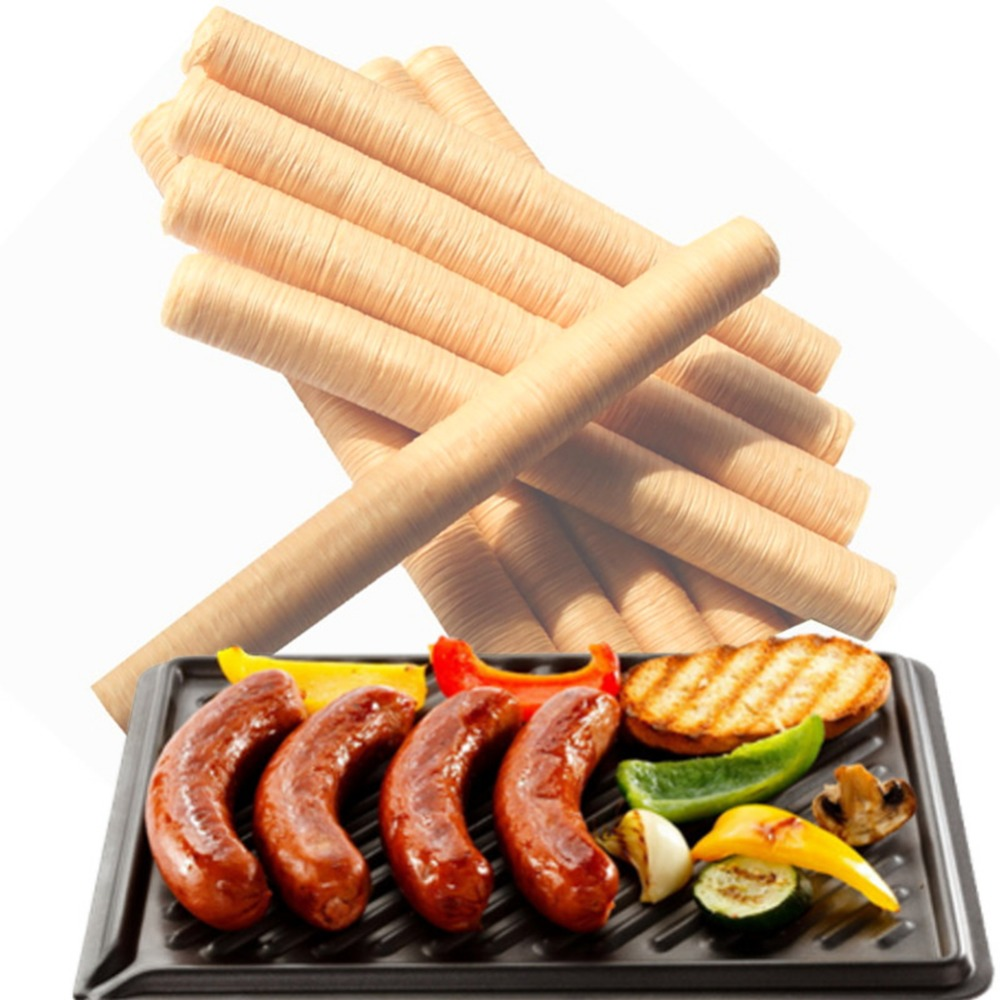 Hot factory sell High quality 14 Meters Diameter 26mm cooking tools halal sausage types Collagen casing in Cake Molds from Home Garden