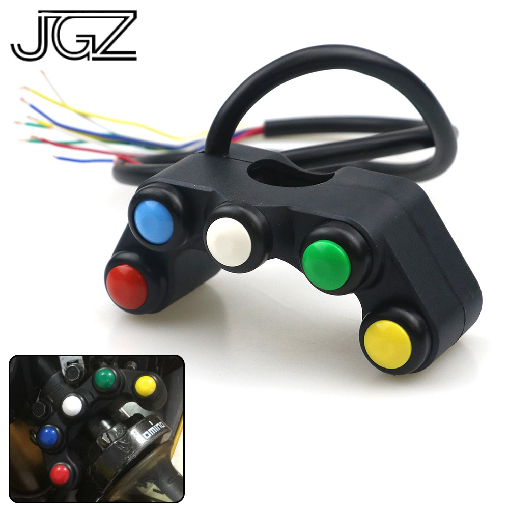 5 Button In 1 Motorcycle On Off Switch Control Headlight