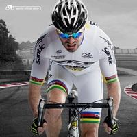 Santic Vélo Jersey Définit Mens Vélo VTT Cyclisme Manches Courtes Costume Blanc Cycling Team Vêtements D'été M5CT053W