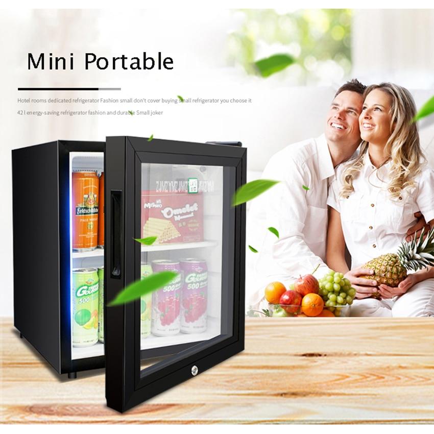 LBC-42A Household Single Door 50W 42L Mini Refrigerator Wine Milk Food Cold Storage Home Cooler Dormitory Freezer Fridge цена и фото