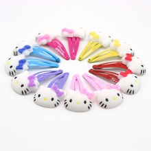 50PCS/set Hello Kitty Hair Clips Hair Accessories For Girls Quality PVC Children Hairpins Hairgrips Barrettes цена в Москве и Питере
