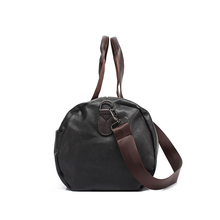 Leather handbag for men in two colors