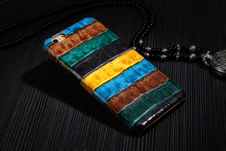 darkgreen color case for iPhone 6 6S Plus crocodile genuine leather