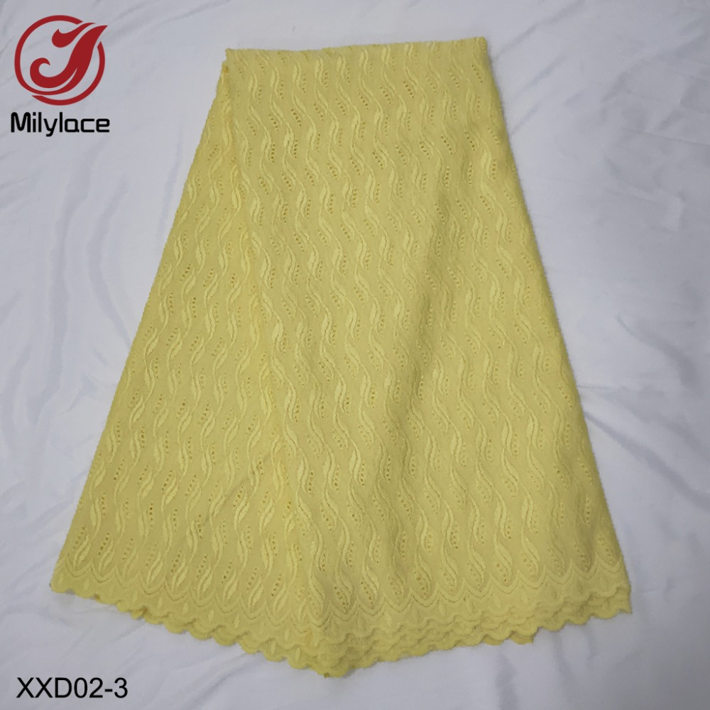 Hot selling african dry lace fabric for 5 yards man or wowen garment mesh cotton lace