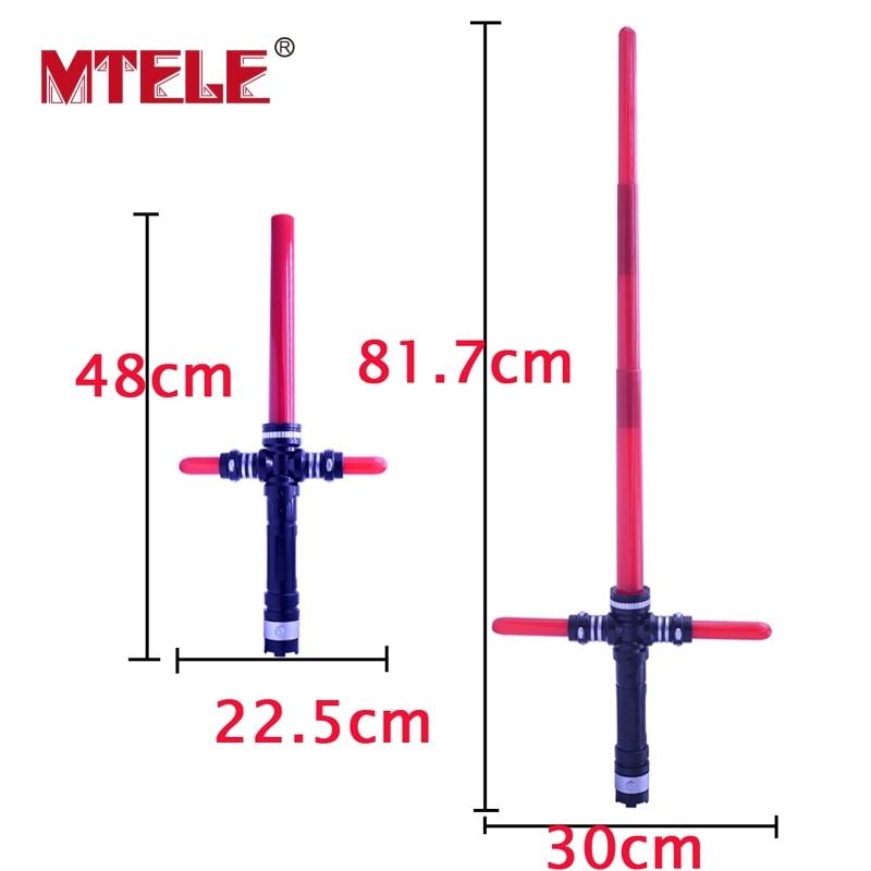 MTELE Star Wars 1 Pcs Cosplay Kylo Ren Lightsaber With Led Red Light Sword Plastic Laser Sword Weapons Kids Toy