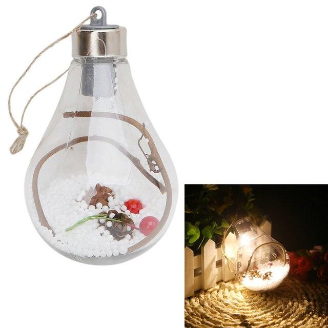 Árbol de Navidad bombilla LED lámpara de pared ornamentos colgantes ...