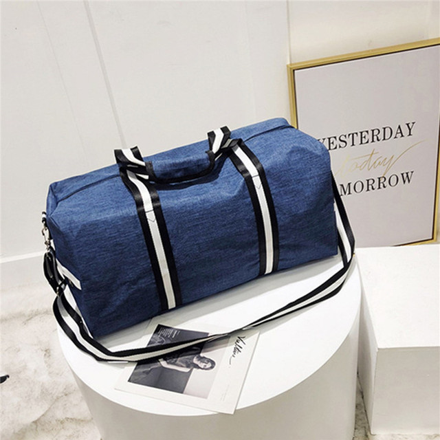 AEQUEEN черный дорожная сумка для женщин мужские чемодан путешествия вещевой мешок большой ёмкость Мужская тотализаторов полосатый нейлон