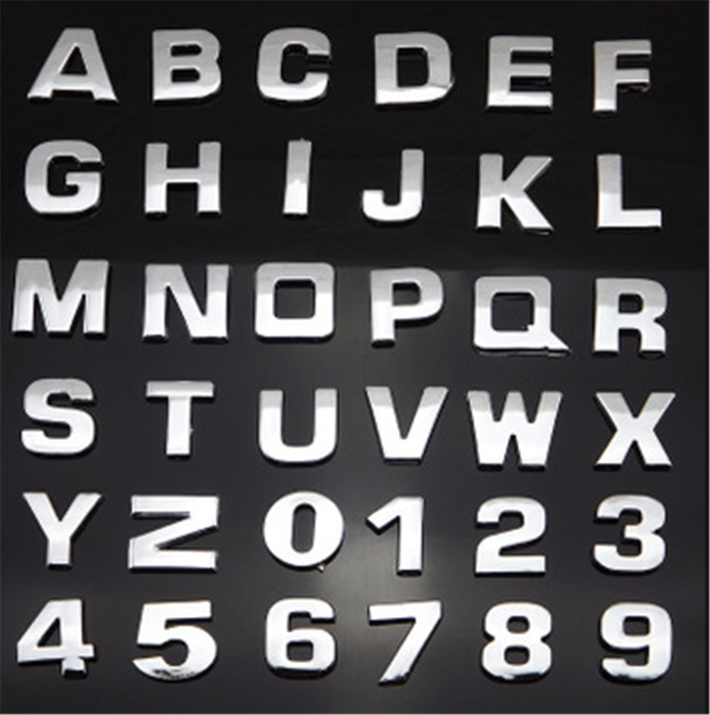 High quality auto styling 3D metal digital letter car sticker black silver for Kia eco Pro-cee-d KOUP cee-d Rondo Kue Kee