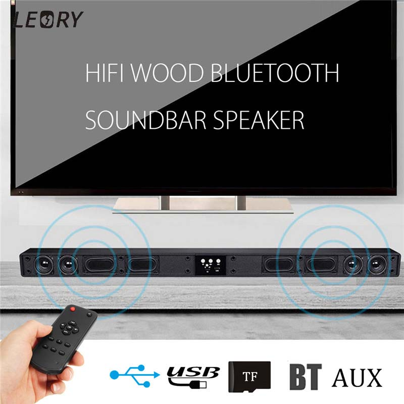 Wireless Bluetooth Soundbar Speaker 4 Horn HIFI 5.1 Sound Bar Virtual Surround Sound Full-range Speaker Remote Home TV Theater rotibox mini soundbar ultra compact portable mutimedia wireless stereo bluetooth speaker hifi powerful crystal sound with balacne audio deep bass cinema surround sound aux connection for outdoor sports play home audio