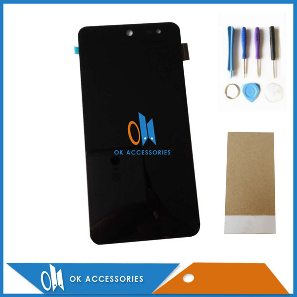 Black Color 100% Tested For Wileyfox Swift LCD Display+Touch Screen Digitizer Assembly 1PC/Lot With Tools & Adhesive Tape