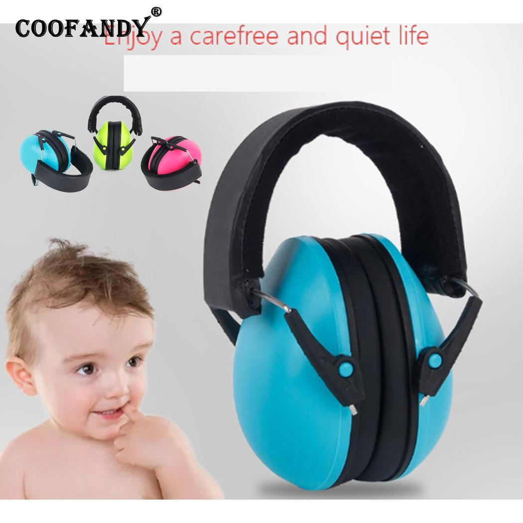 Children Hearing Protection Headphone Noise Canceling Kids Green, Blue, Red Professional Earmuffs 25dB