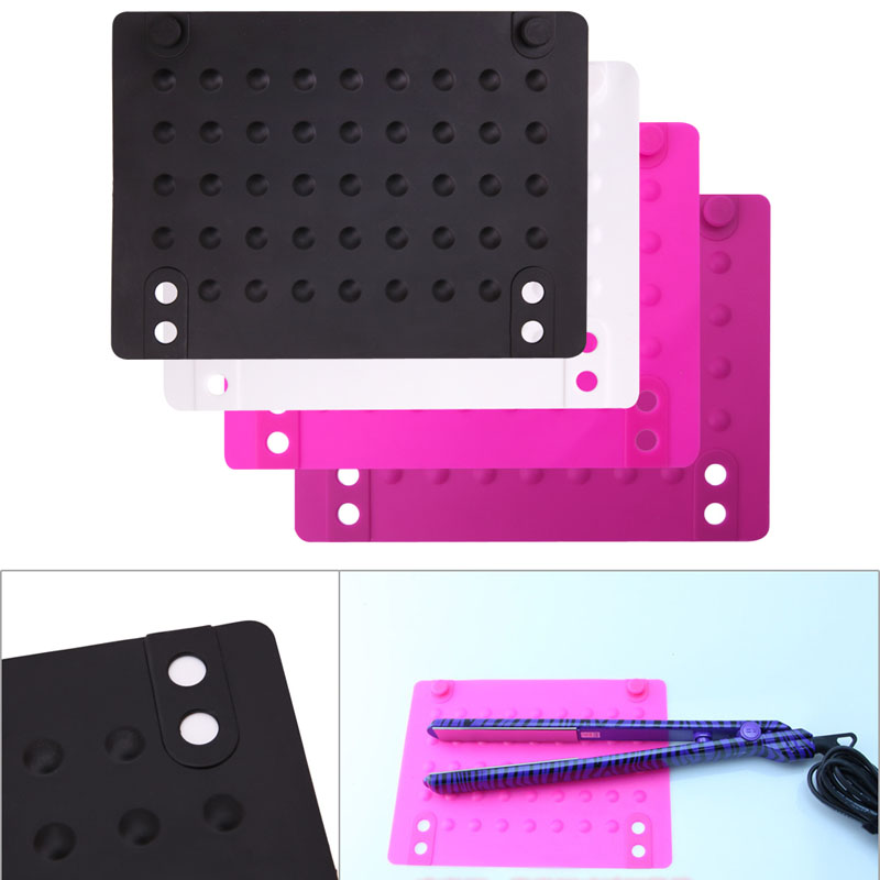 1Pc Silicone Heat Insulation Flat Hair Straightener Curling Accessories Durable