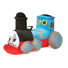 9.8'' 25cm Kawaii Blue Tank Train Thomas & Friends Cute Stuffed Plush Toy Doll for Baby Girl Boy Birthday Gift Brinquedo