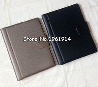 Leather Folder Padfolio Multifunction Organizer Planner Notebook Ring Binder A4 File Folder Calculator Office Supply Party