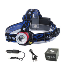 Outdoor Headlight LED headlamp T6 XPE Lampa Frontale LED Flashlight Rechargeable Bright Head Light 2x18650