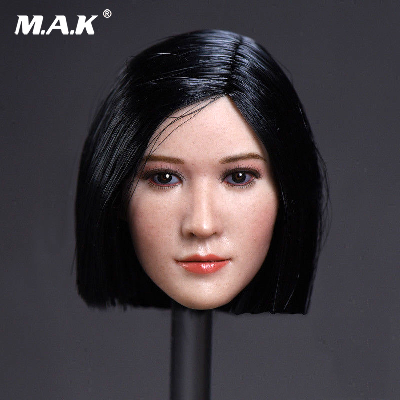 TOYS 1/6 Short Hair Straight Star Head Sculpt Carved Model Fit 12 PH Female pale Colo Body Action Figure Doll 1 6 female head for 12 action figure doll accessories marvel s the avengers agents of s h i e l d maria hill doll head sculpt