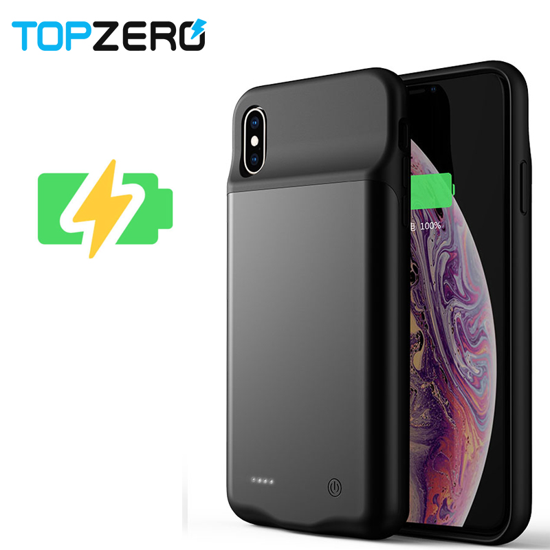 TOPZERO Battery Charger Case For iPhone XS MAX XR X With Magnetic Attraction Audio Function Battery Case for iPhone X XR XS Max iphone xr case magnetic