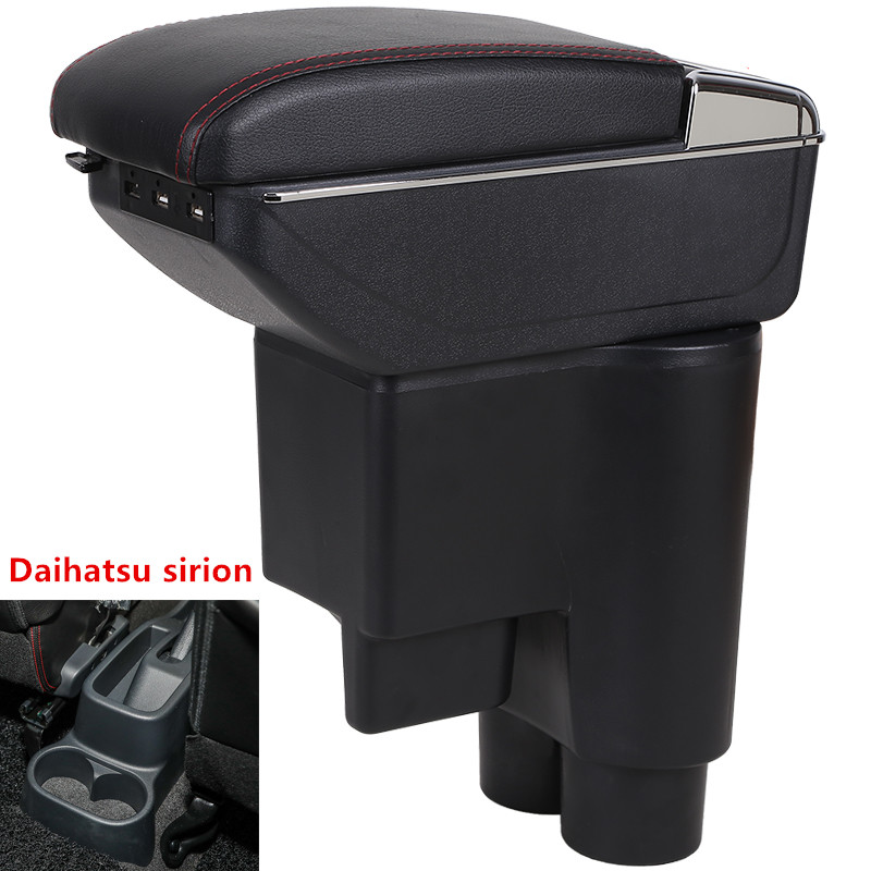 Pour la boîte d'accoudoir Daihatsu sirion, chargement USB, Double couche, support de verre central, accessoires de cendrier