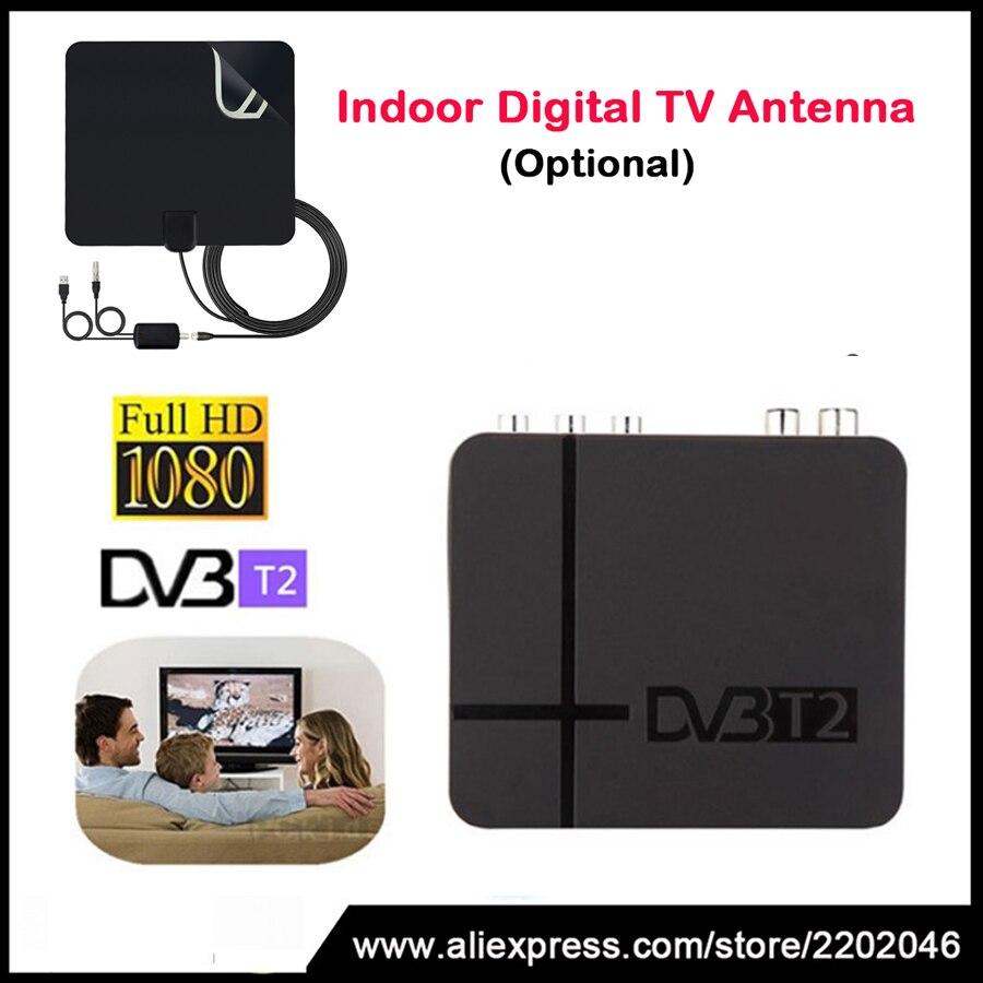 HD 1080 P Ricevitore TV DVB-T2 USB 2.0 MPEG4 H.264 AV IR Tuner Mini DVB T2 Ricevitore Digitale Terrestre/Mini Set Top Box Per RUSSIA
