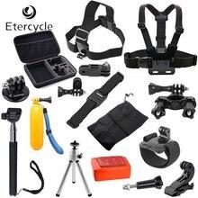 13-in-1 Pro Camera Accessories Family Kit for GoPro HD Hero 4 3+ 3 2 Harness Strap Monopod Tripod Screw Stickers Adapter Case